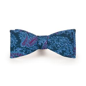 Papillon Blu Paisley Seta Tessuto prodotto da  Lanieri - Made in Italy