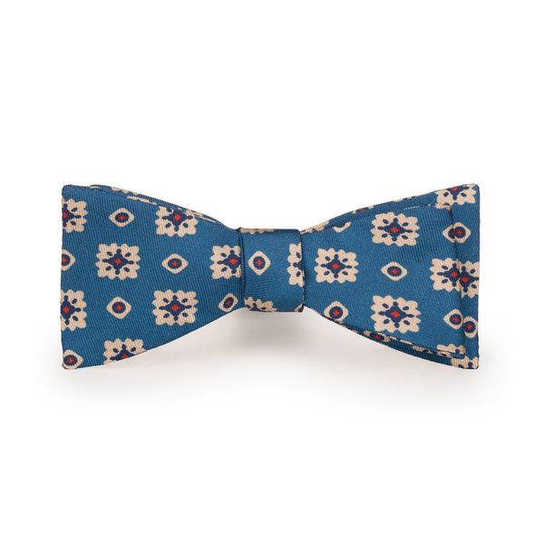 Papillon Firenze Azzurro Seta Tessuto prodotto da  Lanieri - Made in Italy