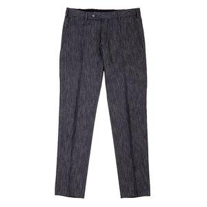 Pantaloni chino Denim Blu Tessuto prodotto da  Lanificio Ermenegildo Zegna