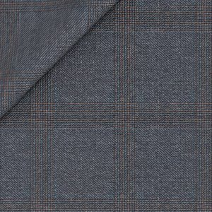 Giacca Blu Quadri Grisaglia Tessuto prodotto da  Reda