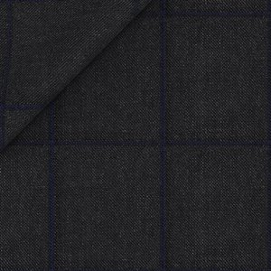 Charcoal Grey Overcheck Suit Fabric produced by  Tallia Delfino