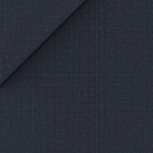 Pantaloni 160's Blu Principe di Galles Tessuto prodotto da  Drago
