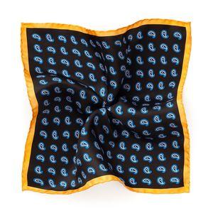 Pochette Paisley Marrone Tessuto prodotto da  Lanieri