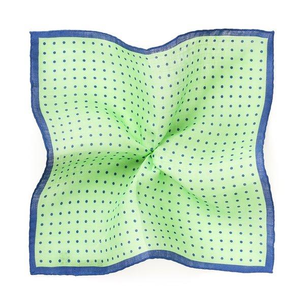 Pochette Pois Verde Tessuto prodotto da  Lanieri