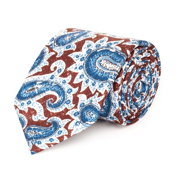 Cravatta Paisley Bordeaux Tessuto prodotto da  Lanieri