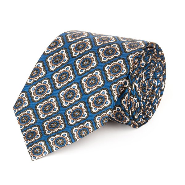 Cravatta Murano Blu Tessuto prodotto da  Lanieri
