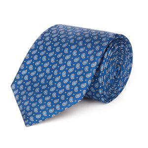 Cravatta Boteh Blu Tessuto prodotto da  Lanieri