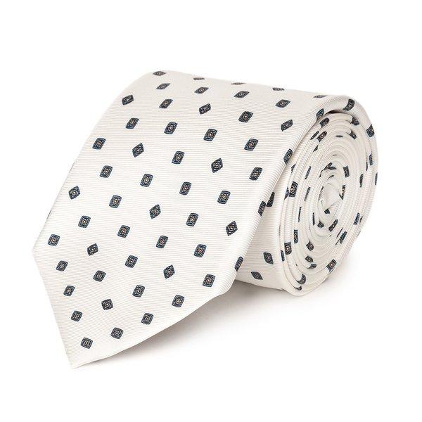 Cravatta Roma Bianca Tessuto prodotto da  Lanieri