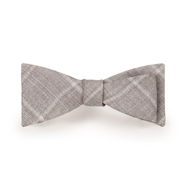 Grey Overcheck Bowtie Fabric produced by  Reda