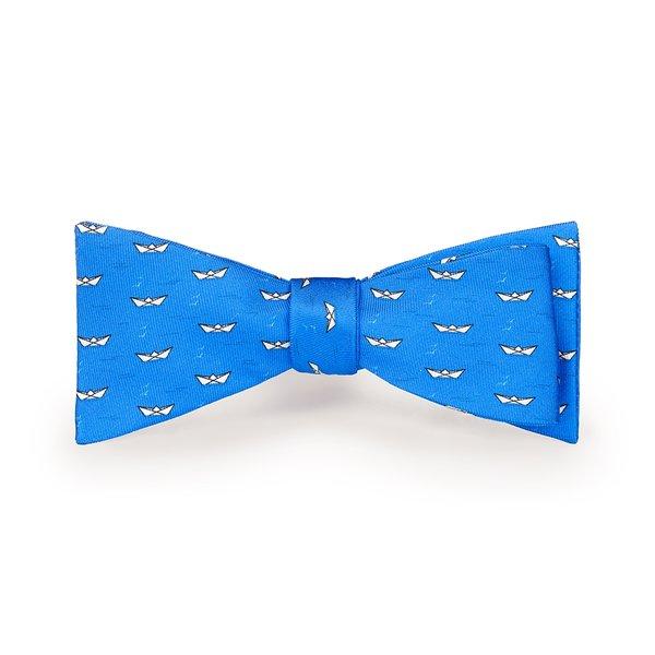 Papillon Mare Blu Elettrico Tessuto prodotto da  Lanieri