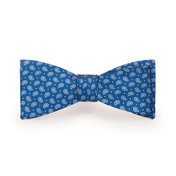 Papillon Boteh Blu Tessuto prodotto da  Lanieri