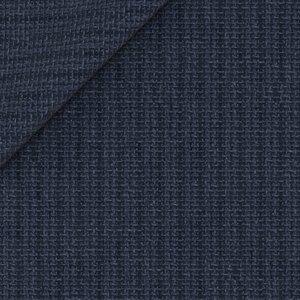 Blazer Blu a Righe Lana Lino Tessuto prodotto da  Reda
