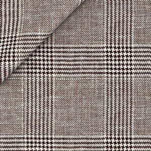 Giacca Marrone Galles Fresco Cashmere Tessuto prodotto da  Loro Piana