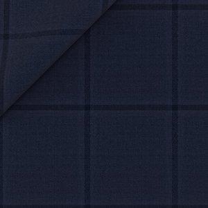Abito Natural Stretch Blu Finestrato Tessuto prodotto da  Lanificio Zignone