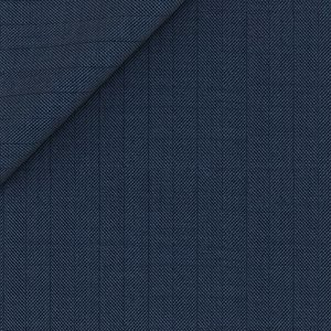 160's Blue Herringbone Jacket Fabric produced by  Drago