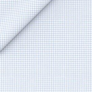 Camicia Natural Stretch Azzurra Pied de Poule Tessuto prodotto da  Grandi & Rubinelli