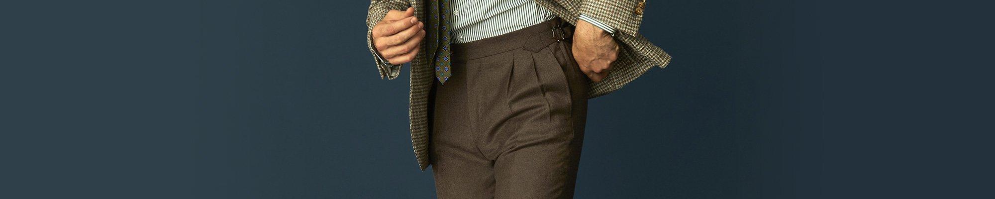 Pantalon de costume sur mesure pour homme