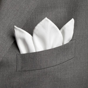 Pocket square White Cotton