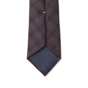 Necktie Blue Check Wool
