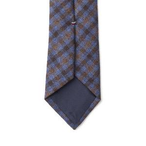 Necktie Purple Check Wool