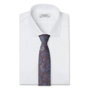 Necktie Paisley Bordeaux Silk