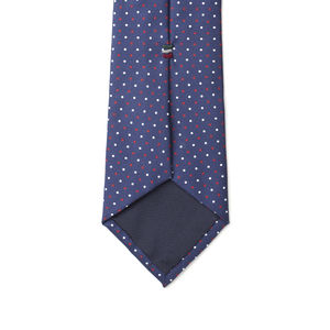 Necktie Blue Dots Silk