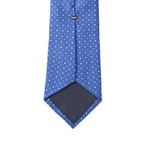 Krawatte Leuchtendblau Punkte-Dessin Seide
