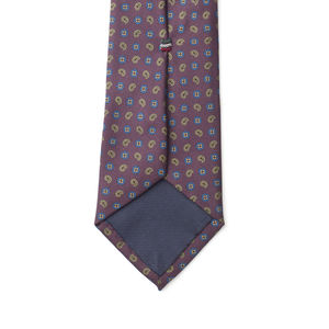 Cravate Bordeaux Cachemire Soie