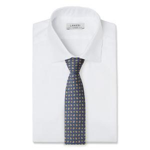 Krawatte Blau Kaschmir Seide
