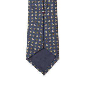 Cravate Bleu Marine Cachemire Soie