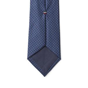 Corbata Azul Pied de Poule Lana