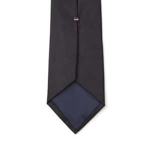 Ceremony Black Necktie Fabric produced by  Lanieri - Made in Italy