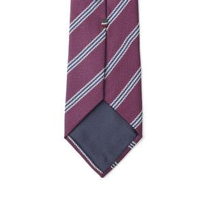 Cravate Regimental Bordeaux