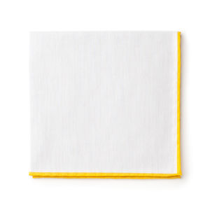 Pocket square White Giallo