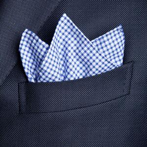 Pochette Dots Design Bleu Ciel