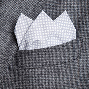 Pocket square Catena Grey