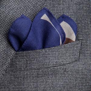 Pochette Pois Bleu Marine