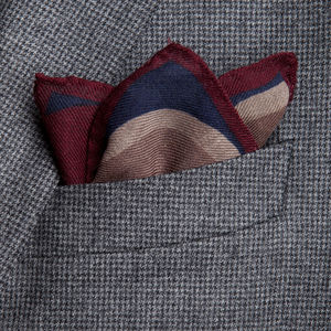 Einstecktuch Punkte-Dessin Veilchenblau