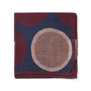 Pocket square Pois Purple