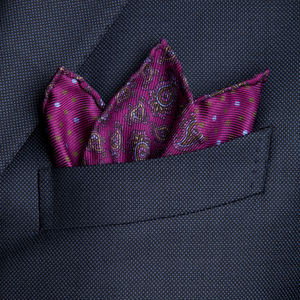 Pocket square Cashmere Bordeaux