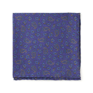 Pocket square Cashmere Indigo