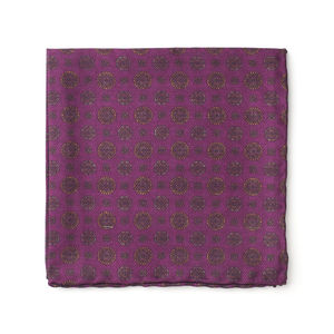 Pocket square Vintage Bordeaux Silk
