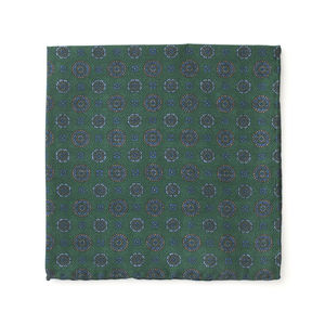 Pocket square Vintage Green Silk