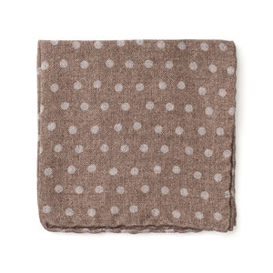 Pocket square Dots Brown