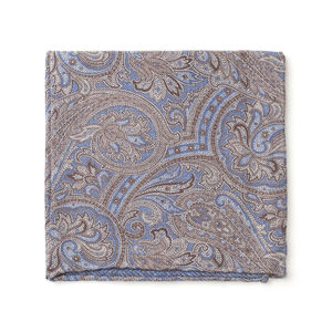 Einstecktuch Paisley Azurblau