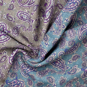 Scarf Paisley Green Wool