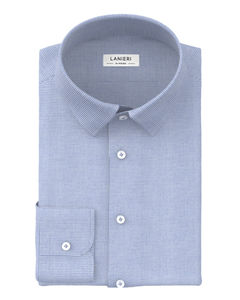 Shirt Light Blue Houndstooth Flannel