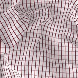 Camicia Rosso a Quadri Popeline Cotone