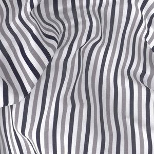 Camicia Grigia Blu a Righe Cotone
