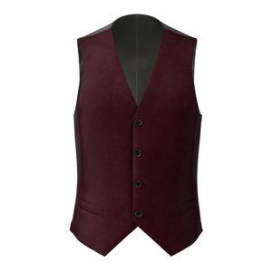 Waistcoat Burgundy Wool